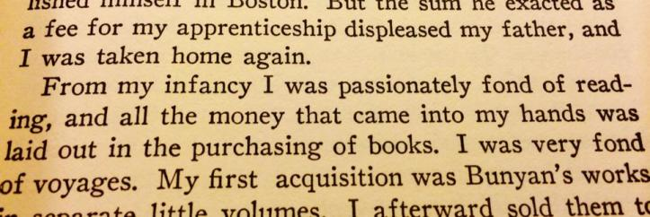 "From ""The Autobiography of Benjamin Franklin"""